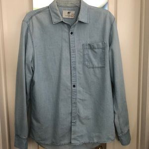 Light Blue Denim Button Up